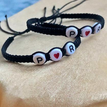 Couple Initial Bracelets