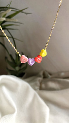 Candy Heart Name Necklace