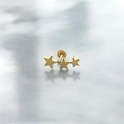 Triple star Piercing 10k