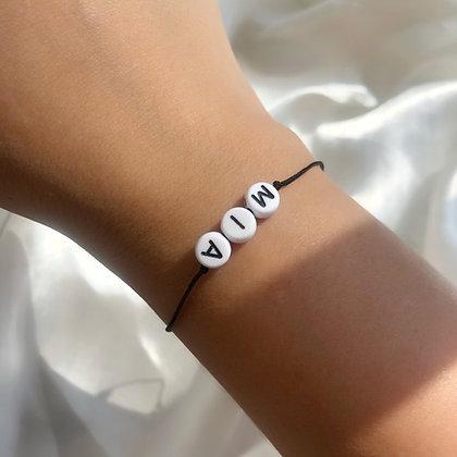 Black & White Name Bracelet