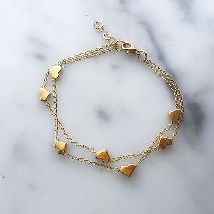 Lovely hearts bracelet