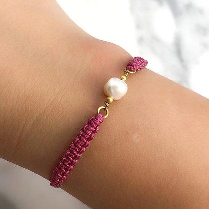 Brazalete Perla tejido