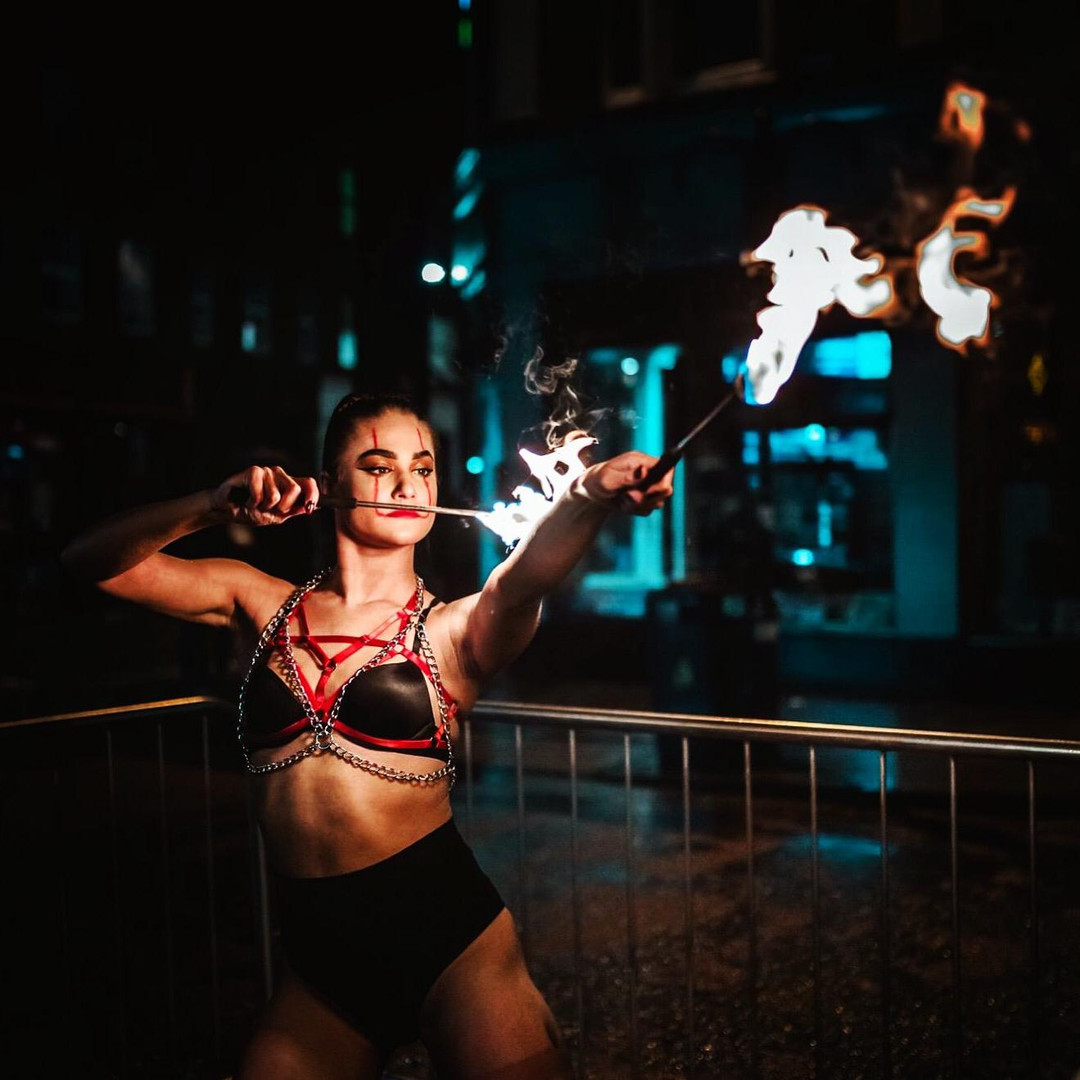 Fire artist and dancer