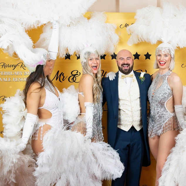 Wedding recpetion entertainment showgirls