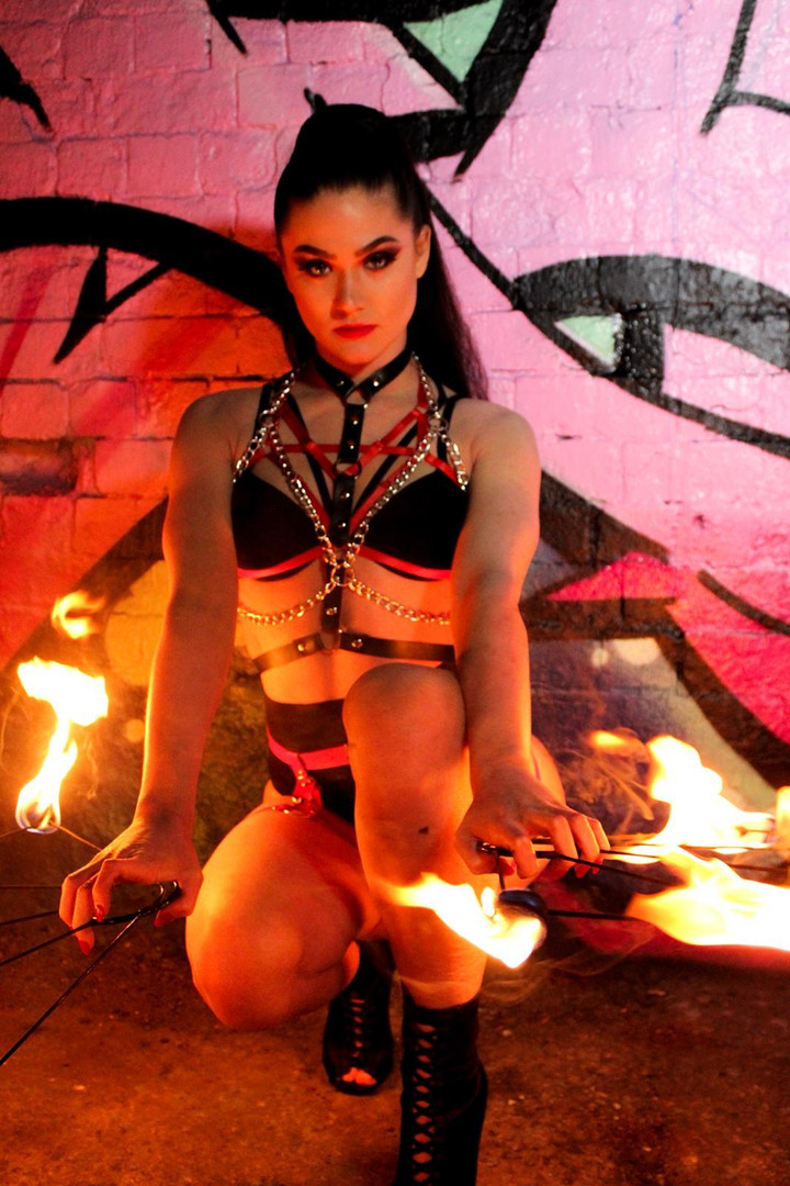 Fire dancer and breather