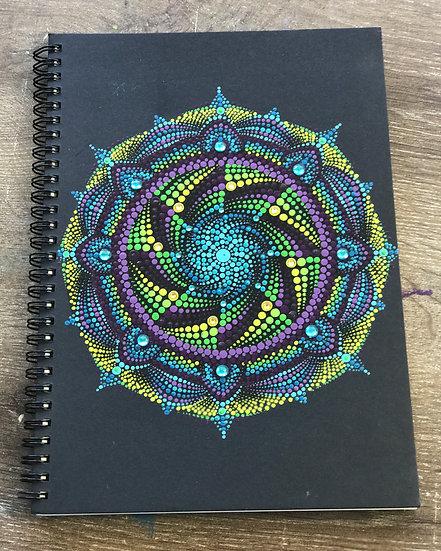 Hand Painted mandala Journal/ Art Sketchbook