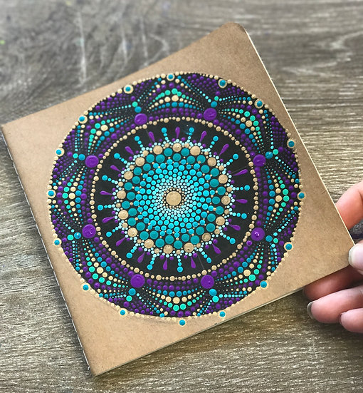 Hand Painted Mandala Notebook