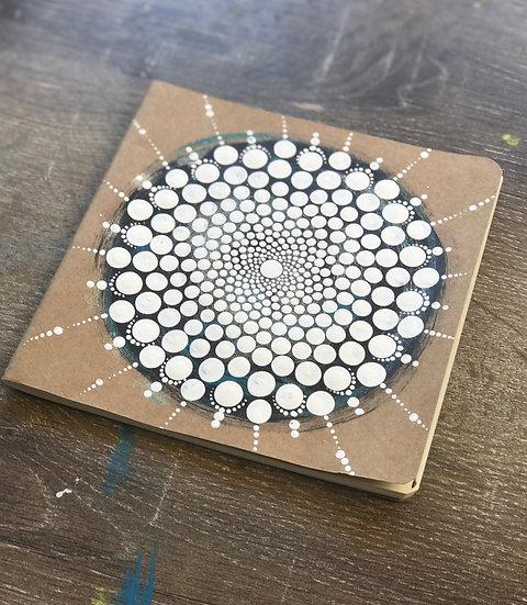 Hand Painted Mandala Notebook
