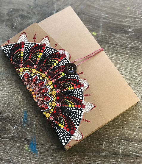 Hand painted mandala Journal/Notebook/ Art Sketchb