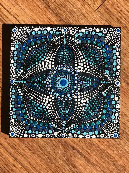 Blue Moon Mandala Canvas