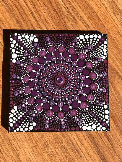 Purple Love Mandala Canvas