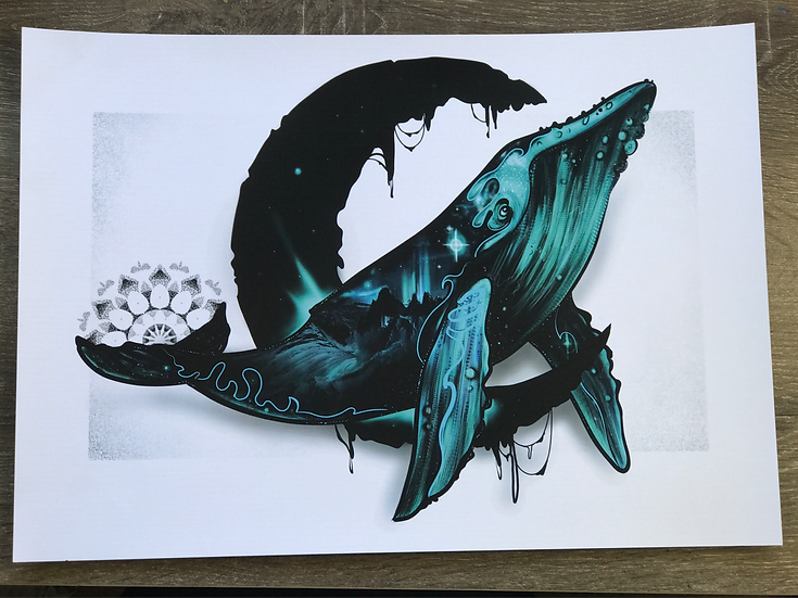 Limited Edition Prints  •Space Whale•