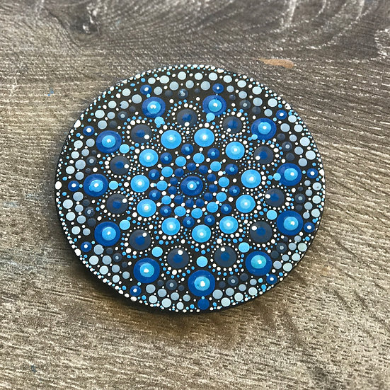 Hand Painted Mandala Coaster