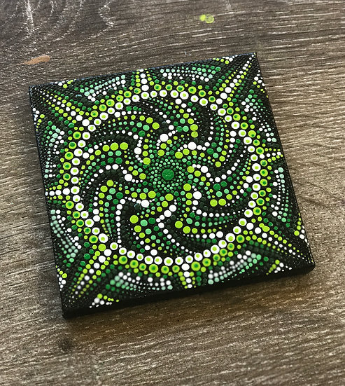 Trippy Dayz - Hand Painted Mandala Canvas