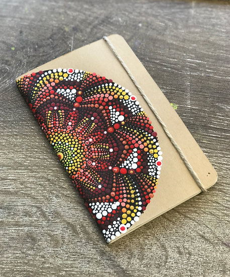 Handpainted Mini Mandala Notebook