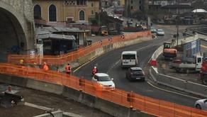 Zogno, la variante accelera - VideoTunnel asfaltati e cantieri per le rotatorie