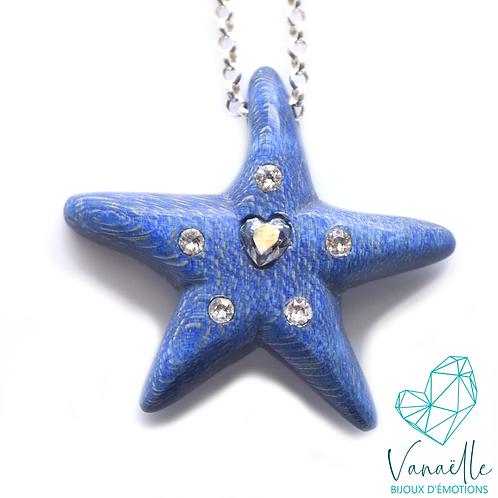 Collier l'étoile de mère (1 cristal coeur + petits cristaux)