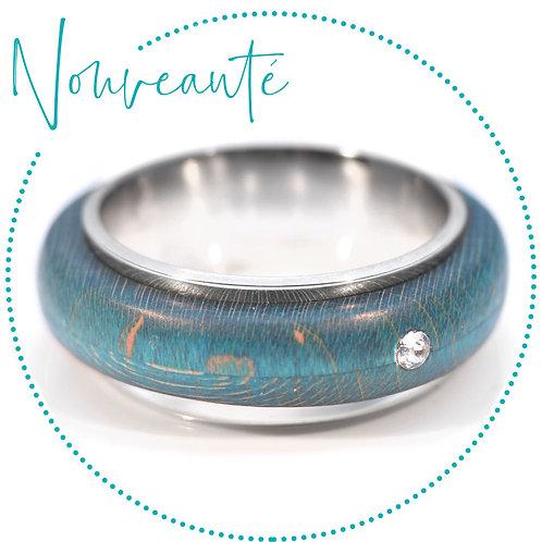 Bague anti stress avec anneau en bois