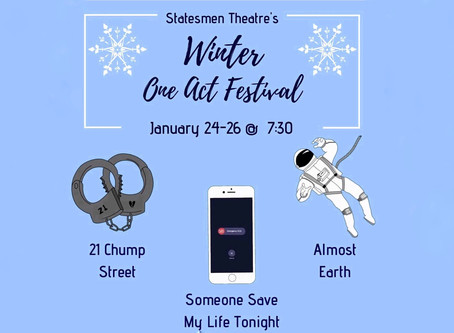 One Act Festival Jan 24-26 7:30 pm