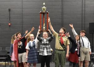 Putnam Spelling Group 2019 with Trophy.j