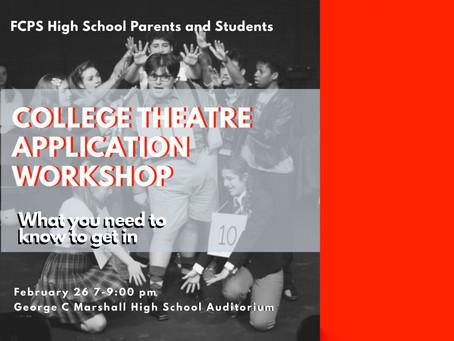 Theatre College Application Workshop