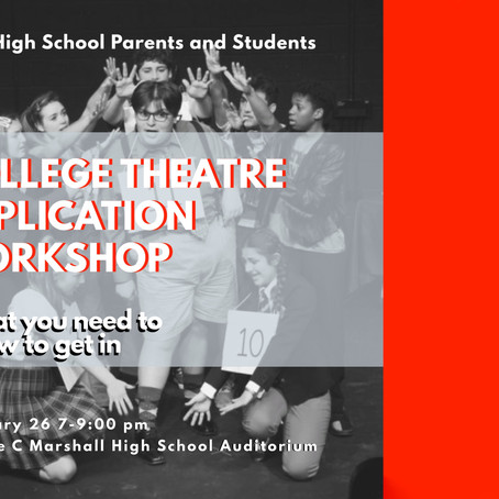 Theatre College Application Workshop
