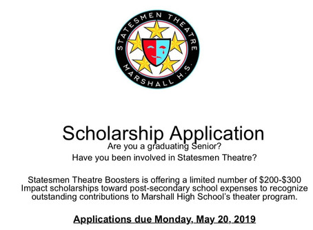 Impact Scholarship Applications Due May 20, 2019