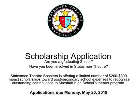 Impact Scholarship Applications Due May 20, 2019