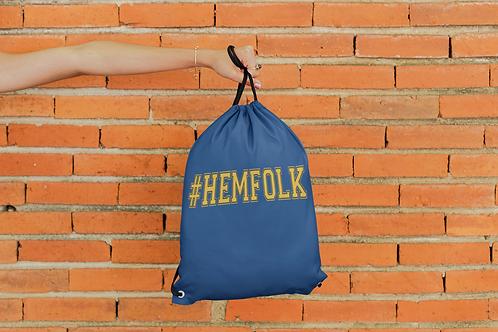 Hem Folk Draw String Bag
