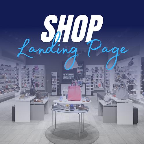 Shop Landing Page