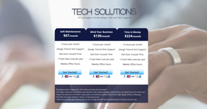 Tech Solutions monthly subscription packages for graphic design services