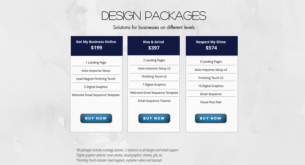Design Solutions packages for graphic design services