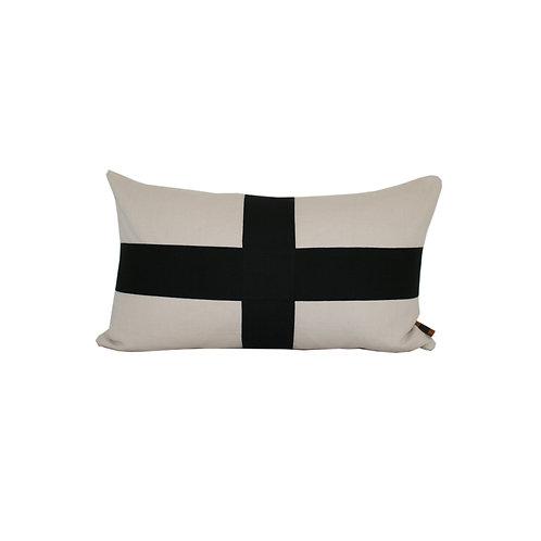 'Criss-Cross' cushion - natural