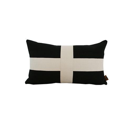 'Criss-Cross' cushion - black