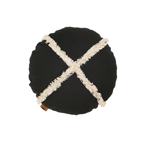 'Roundie' cushion - black