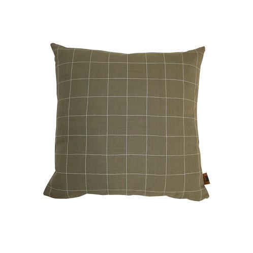 'Grid' cushion - olive