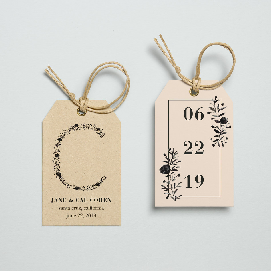 Gift tag design for wedding