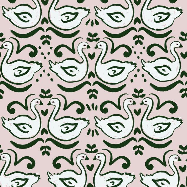 Repeat swan pattern