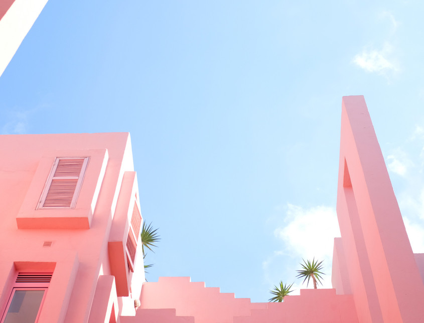 Pink Abstract Building