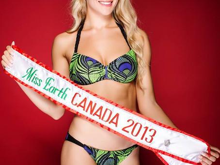 Venao Swimwear Sponsors MISS EARTH CANADA 2013 Bikini For Her Winning Title