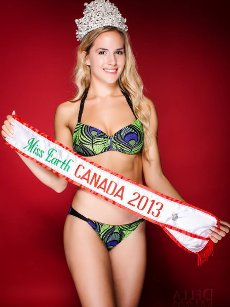 Venao Swimwear Sponsors MISS EARTH CANADA 2013 Bikini For Her Winning Title
