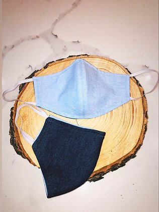 Denim Reversible Adult Unisex Face Mask