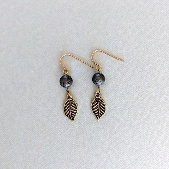 Lava + Leaf Earrings