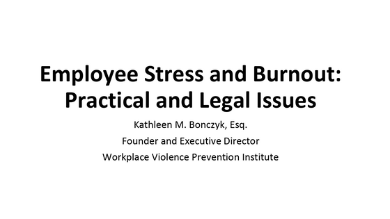 Upcoming NBI Seminar on Work-Related Stress