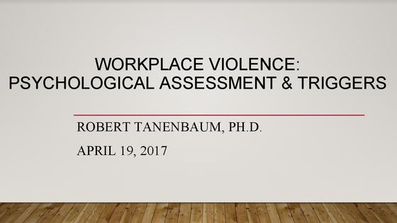 WVPI member Dr. Tanenbaum on Bullying