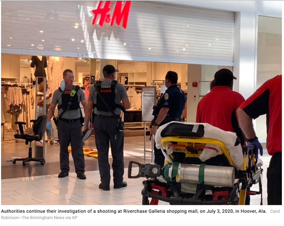 Mall active shooter episode leaves 1 dead, 3 wounded