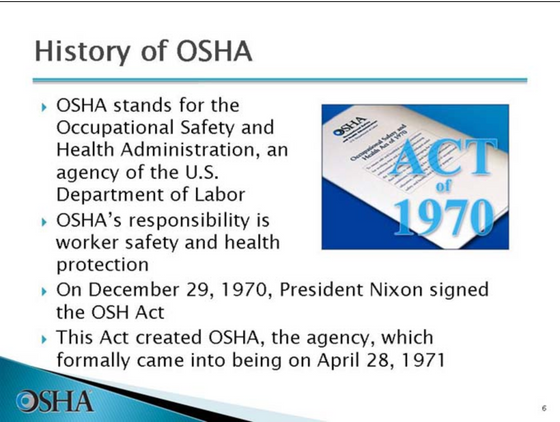 A half century of the OSH Act