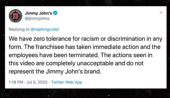 Jimmy John's workers fired after filming mock lynching at restaurant