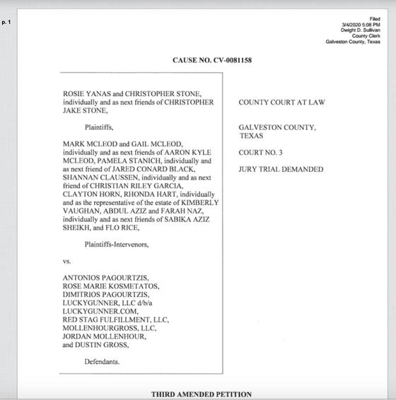 SFHS families bring civil lawsuit against on line bullet seller
