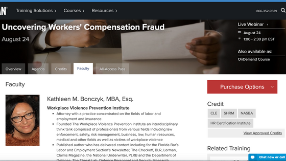 WVPI Founder Presenting Course on Workers Compensation Fraud